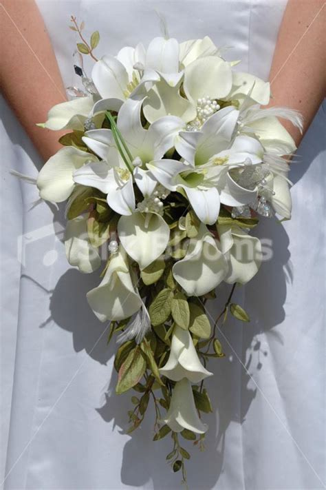 Wedding Bouquet Artificial by Shop Ivory Calla Artificial Bridal Wedding Bouquet W