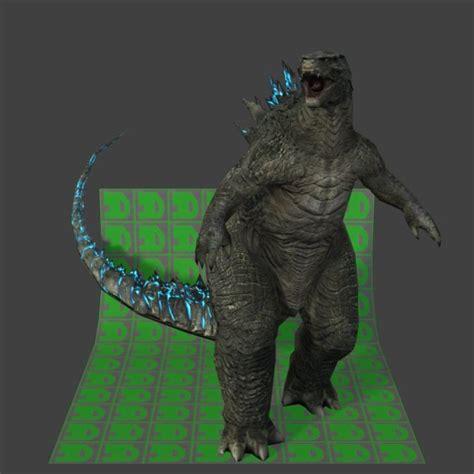 Godzilla L by Godzilla 3d Model Obj Dae