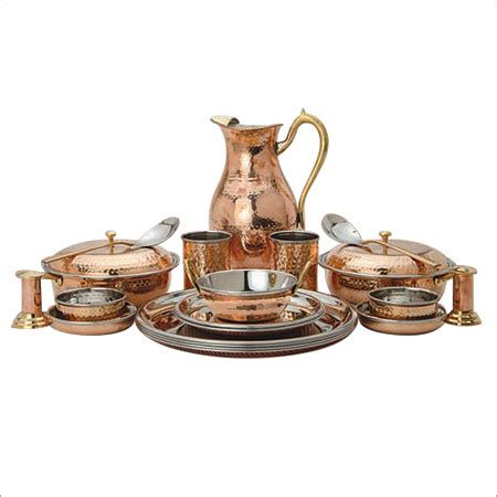 copper dining set india copper steel dinner set copper steel dinner set