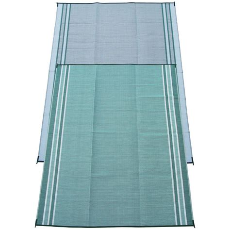 fireside patio mats mossy teal green 9 ft x 12 ft
