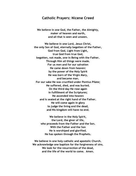 printable version nicene creed 10 best teaching images on pinterest prayer prayers and