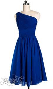 blue dresses blue one shoulder pleated bridesmaid dress dvw0131