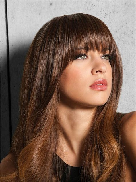 Hairstyle Wigs With Bangs by Bangs Synthetic Hairpiece By Hairdo