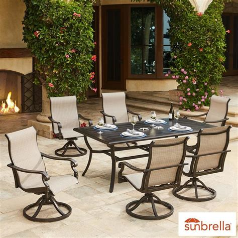 beaumont patio furniture sunvilla beaumont 7 piece sling dining set cover