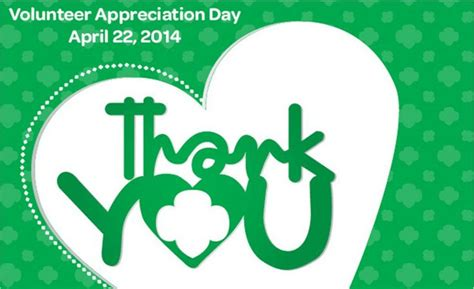 themes for girl scout day c girl scout volunteer appreciation day is april 22 girl