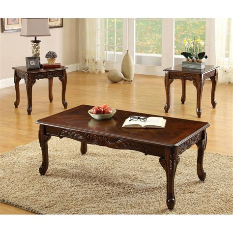 furniture of america cm4914 3pk cheshire coffee table set