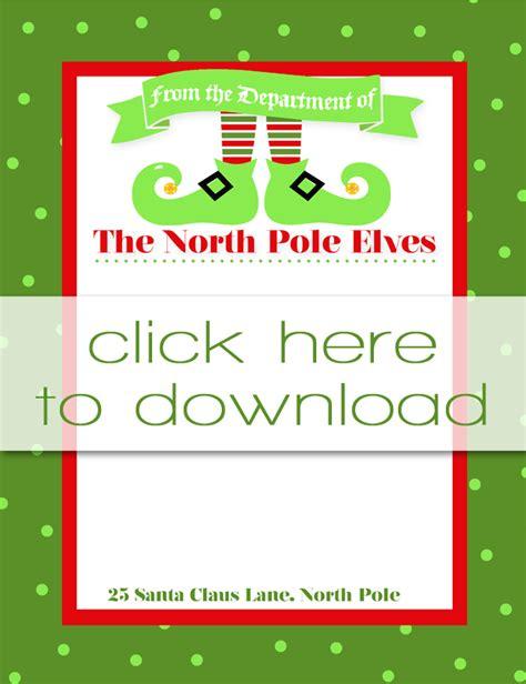 printable elf letterhead i should be mopping the floor free printable elf on the
