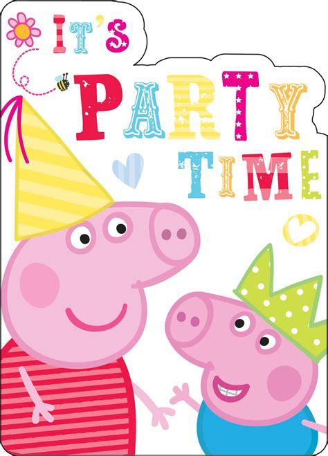 Peppa pig invitations pack of 8 peeks