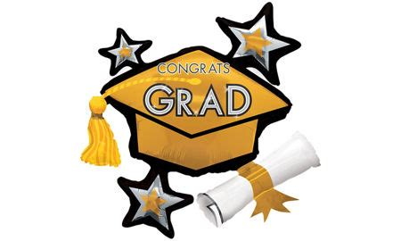 black gold silver graduation balloons city