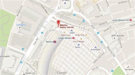 map  waterloo station