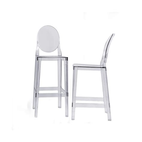 Tabourets Kartell by Tabouret Kartell One More Cristal H 65 Ideesboutique