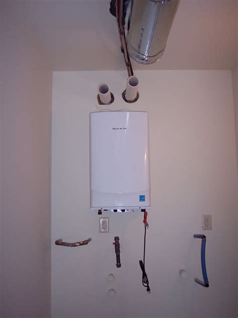 building  home  navien tankless hot water heater