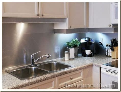 aluminum backsplash kitchen diy metal backsplash i made the backsplash out of