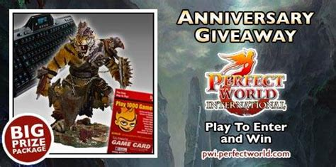 Pwi Giveaway - perfect world international is celebrating today its third anniversary