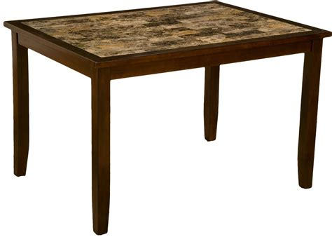 Table Capitola by Capitola Espresso Faux Marble 5 Dining Set 553 Alpine