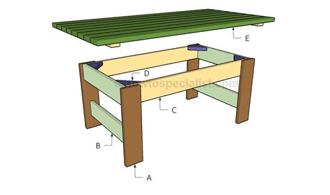 Build A Patio Table Pdf How To Build An Out Door Table Plans Free