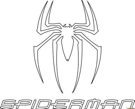coloring pages com free spiderman logo coloring pages free printable online