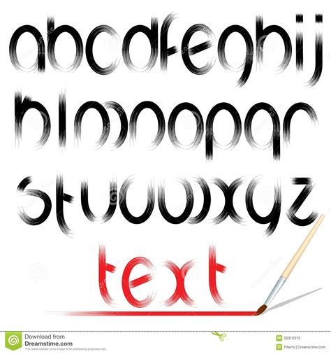 vectorial design font brush alphabet vector design font stock photos image