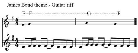 music theme vs motif guitar guitar tabs 007 theme song guitar tabs guitar