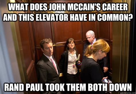 John Mccain Memes - what does john mccain s career and this elevator have in common rand paul took them both down