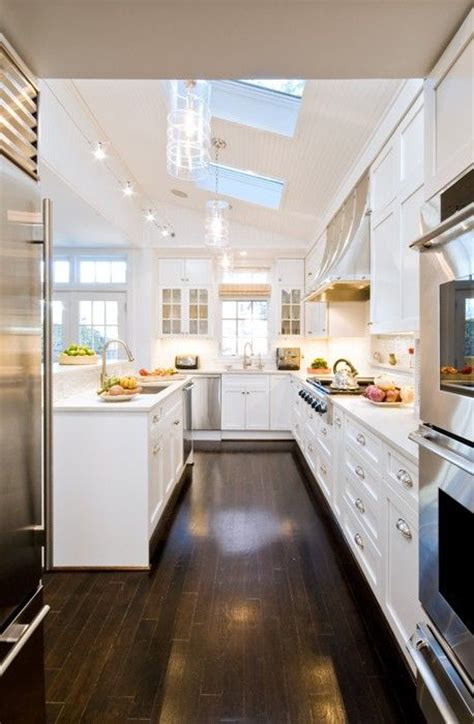 bright white kitchen cabinets bright spacious kitchen with skylights i would go with