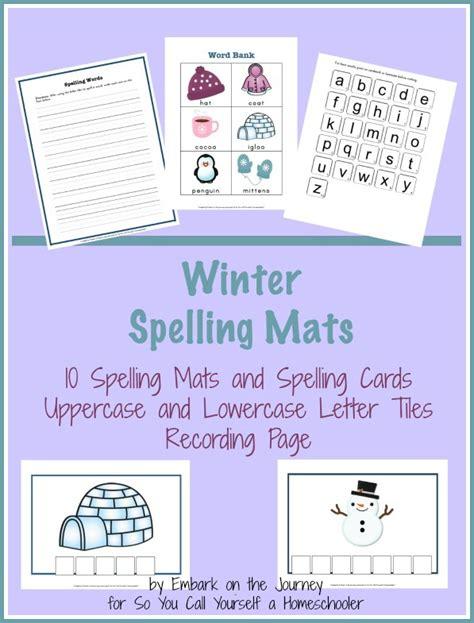 Winter Word Mat by Free Winter Spelling Mats