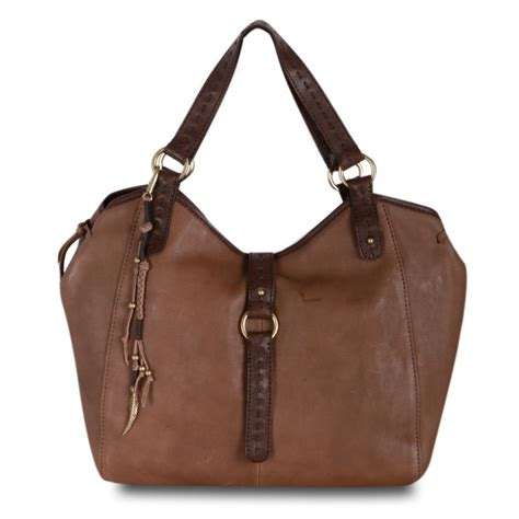 hobo leather bags lucky brand ojai leather slouch hobo bag bag in brown taupe lyst