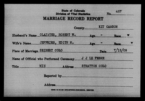 Denver Marriage Records Colorado Marriages Go Denver Library History