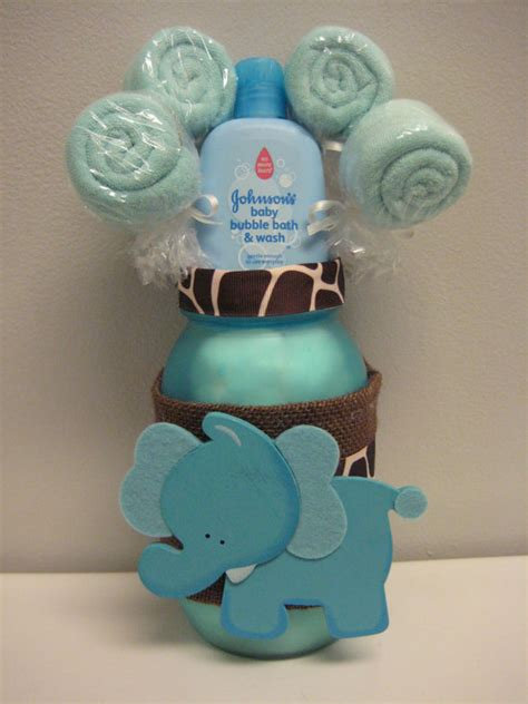 Elephant Centerpieces For Baby Shower by Baby Shower Elephant Jar Safari Centerpiece By