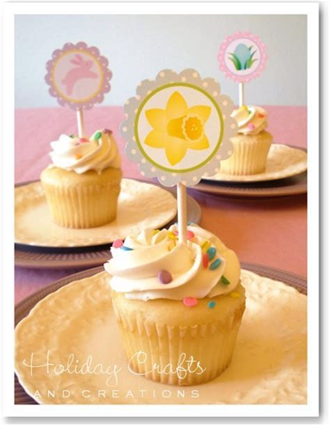 Easter Cupcake Decorating Ideas: Printable Toppers