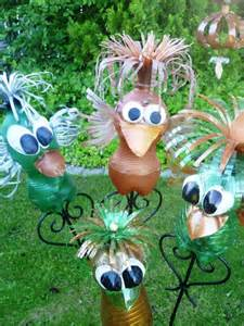 pet bottle upcycling tiere gartendeko