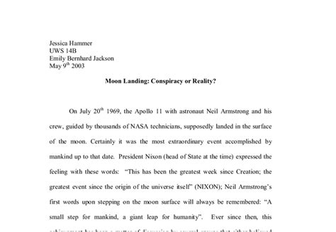 Moon Conspiracy Essay moon landing conspiracy or reality a level history marked by teachers