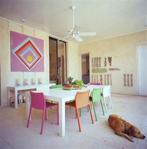 colorful dining table colorful dining chairs with round glass dining table