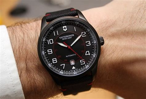 Swiss Army Dhc Leather Black victorinox swiss army airboss mechanical black edition