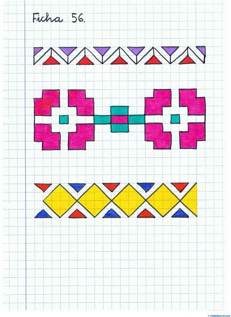 imagenes geometricas artisticas dibujos cuadriculados web del maestro