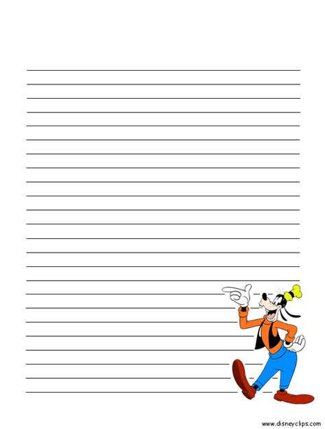 disney writing paper mickey mouse and friends printables disney s world of
