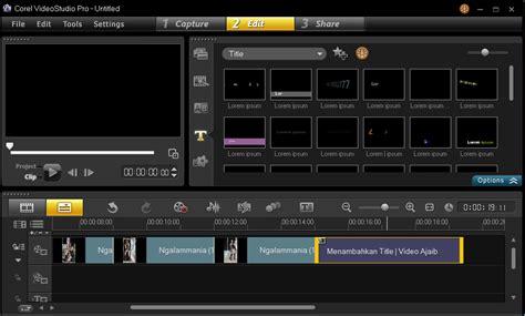 racetrack layout adalah menambahkan title video pada corel video studio graphic