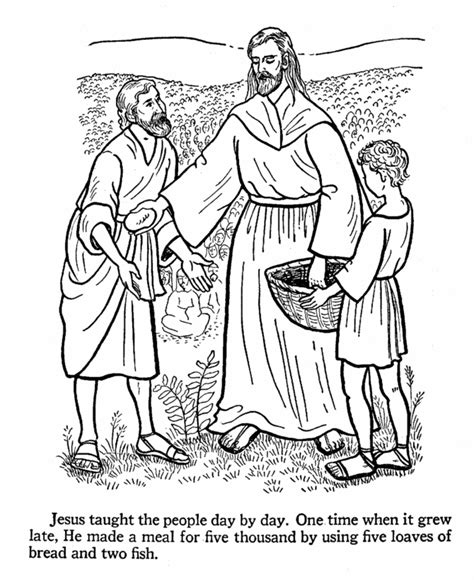 printable coloring pages jesus feeds 5000 jesus feeds 5000 coloring page coloring home