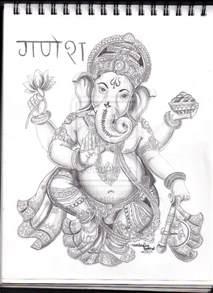 indian elephant god drawing 69965 infovisual