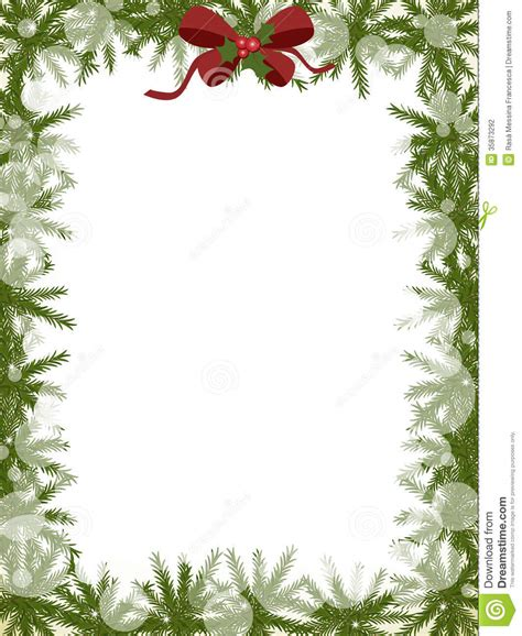 alternate christmas tree picture frame frame stock vector image of tree space pine 35873292