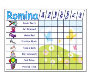 kids toddler chore chart behavior chart or daily schedule