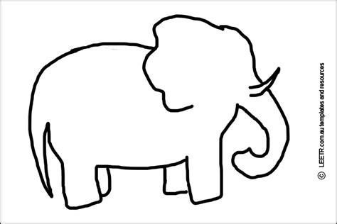 elephant cut out template elephant stencil craft ideas stenciling