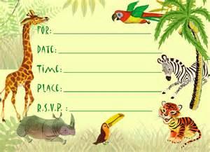 jungle birthday invitations ideas bagvania free