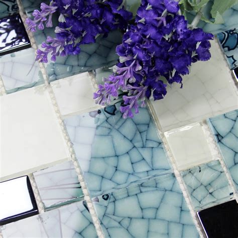 Crystal Glass Mosaic Kitchen Tiles Washroom Backsplash