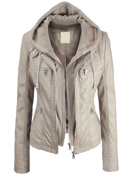 fall motorcycle jacket lock and love women s removable hoodie motorcyle jacket xs