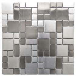 bathroom modern tile ideas backsplash: stainless steel tile modern cobble pattern stainless steel mosaic tile