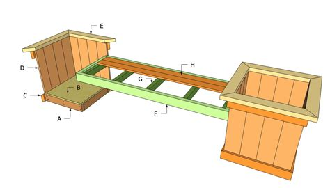 planter bench plans free outdoor plans diy shed