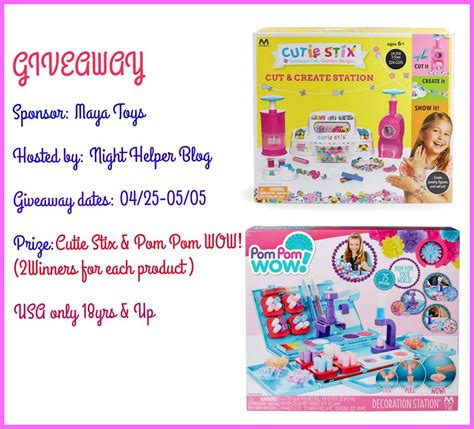 cutie stix pom pom wow giveaway night helper - Wows Giveaway