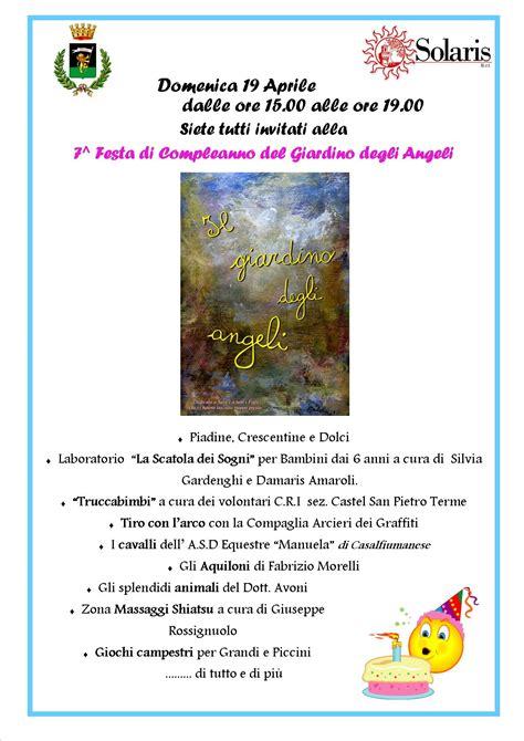 nel giardino degli angeli festa festa di compleanno giardino degli angeli settimo anno