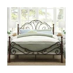 bed antique iron vintage rustic metal